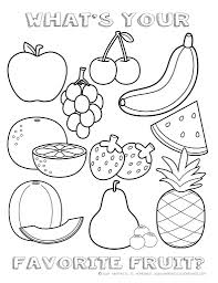 Fruit Coloring Sheet Whats Your