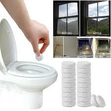 20pcs multifunktionale brause spray konzentrat reiniger hause wc reiniger chlor tablet werkzeug bad zubehör tslm1