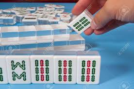 Touch A Nice Mahjong Tiles In A Game Stock Picture And