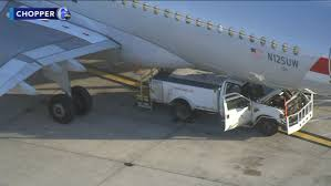 100 Truck Crashes Video Maintenance Truck Crashes Into Airliner At Philadelphia