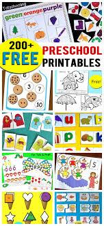 200 Free Preschool Printables & Worksheets