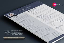 This Is A Bold And Modern Resume Template Ideal For All Types Of Professionals Business People It Has 2 Column Layout With Blue Header Area