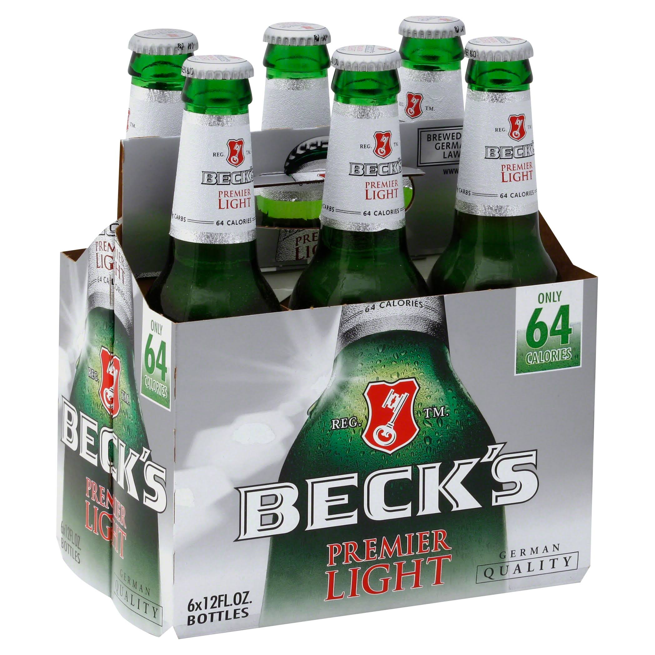 Beck's Premier Light Beer - 6 x 12 oz Pack