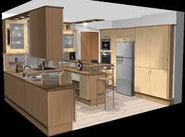 cuisine en u avec table plan cuisine en u beautiful plan cuisine design img1 ushaped