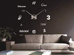 up 3d wanduhr modern leise silber diy kreatives design
