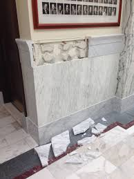 A 2 Foot Section Of Marble Wainscoting Trim In Wing The Idaho State