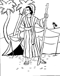 Simple Joseph And His Coat Of Many Colors Coloring Page
