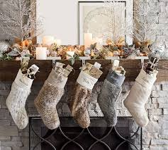 Pottery Barn FAUX FUR STOCKINGS Christmas Stockings And Tree Skirts Sale