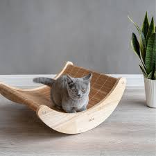 Details About 2 In 1 Pet Dog Cat Kitten Summer Cooling Wooden Bamboo  Hammock Bed Rocking Chair