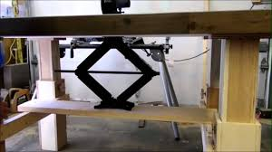 adjustable assembly table woodworking youtube