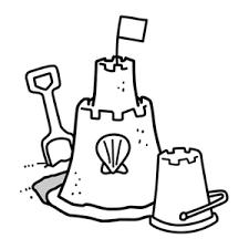 Image Result For Line Drawing Sandcastle Bucket