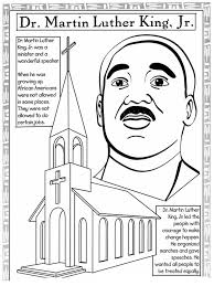 Martin Luther King Jr Printable Coloring Pages 20 And Worksheets