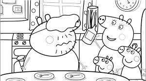 Food Coloring Pages With Daddy Pig Peppa Book Video For Kids Colored Markers