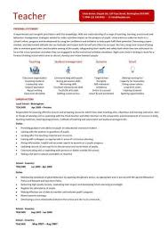 Teaching Cv Template Job Description Teachers At School Regarding Science Teacher Resume