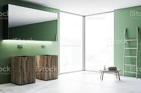 holz doppelte badezimmer waschbecken im zimmer grün stockfoto und mehr bilder architektur
