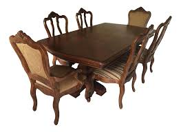 Ethan Allen Dining Room Tables by Ethan Allen Tuscany Dining Set Set Of 7 Chairish