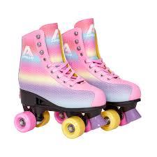 apollo rollschuh disco roller rainbow größe m 35 38
