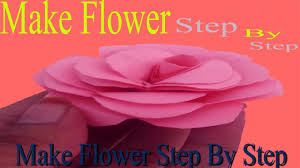 Paper Flowers Rose Diy Tutorial Easy Origami Flower Folding 3d For Kidsfor Beginners Step By