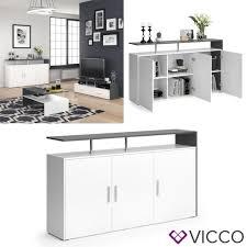 vicco sideboard amato kommode schrank anthrazit weiß anrichte fernsehschrank tv