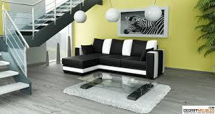 canapé noir et blanc convertible iwojima canapé d angle convertible noir blanc degriffmeubles