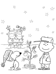 Click To See Printable Version Of Charlie Brown Christmas Coloring Page