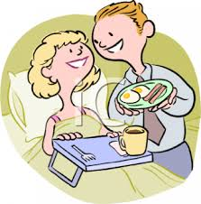 Man Serving His Wife Breakfast In Bed Clip Art Royalty Free Rh Clipartguide Com Word Plate