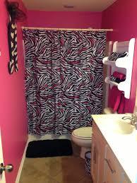 pink zebra print bathroom set home interior design
