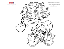 Bike Safety Kids Printables Coloring Pages