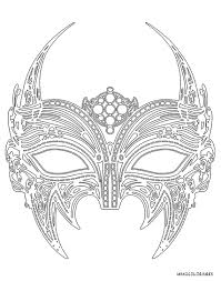 Masque à Imprimer Masque à Plumes Coloriages