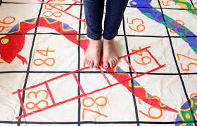 Giant Snakes And Ladders Game Board