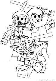 Farglagg Lego Star Wars Yoda With Coloring Pages