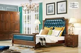 schlafzimmer set bett 2x nachttisch chesterfield holz leder betten polster neu