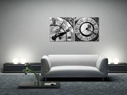wandbilder designer clocks b w