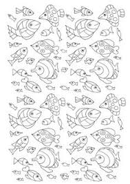 Free Coloring Page Adult Numerous Fish A Lot Of Little