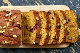 Desserts With Pumpkin Seeds by Vegan Gluten Free Pumpkin Bread With Cranberries Vegan Richa