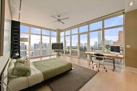 View In Gallery Penthouse Bedroom With Elegant Use Of Green