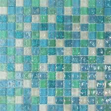 Iridescent Mosaic Tiles Uk by Hammered Aqua Blue Mix Glass Mosaic 20x20 Glass Mosaic Tiles