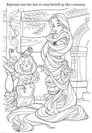 Using Rapunzel Hair To Be Mummy Coloring Pages