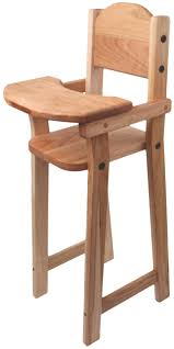 Camden Rose Cherry Wood Doll High Chair, Flat Pack, 30