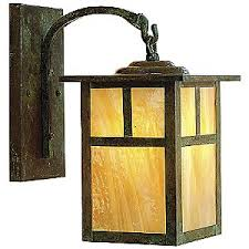 mission arched arm outdoor wall sconce craftsman lighting