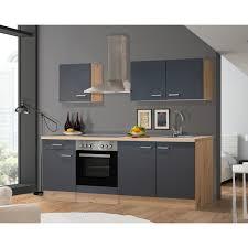 flex well exclusiv küchenzeile morena 210 cm basaltgrau matt san remo eiche hell