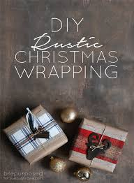 How To Wrap Christmas Gifts With A Rustic Look Decorations Crafts Seasonal