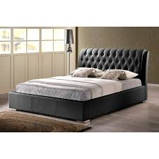 Black Leather Headboard Queen by Hillsdale Lusso Upholstered Low Profile Bed Hayneedle