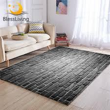 blessliving ziegel große teppiche für wohnzimmer grau wand boden matte 3d druck schlafzimmer bereich teppich 122x183cm realistische tapete neue