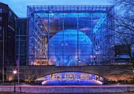 Free night glass building urban manhattan new york