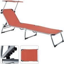 chaises longues de jardin chaise longue de jardin sylt en aluminium avec parasol réglable