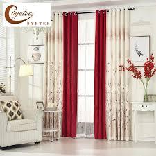 pastorale vorhang gardinen für das wohnzimmer vorhang schlafzimmer warm und einfache custom rote fertigen gewebe cotton linen vorhänge rot gedruckt