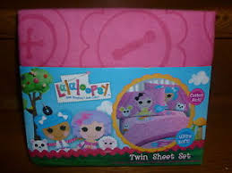 new lalaloopsy twin bed 3 pc sheet set pink 1 fitted flat pillow