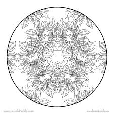 Free Printable Flower Mandala Coloring Pages Ideas