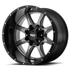 100 20 Inch Truck Rims MOTO METAL WHEELS MO970 Gloss Grey Center W Gloss Black Lip